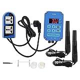 PH-803 Controlador Digital de pH ORP, en Línea PH ORP Tester Pruebas de Calidad del Agua, para Piscinas, Acuarios, Plantas Hidropónicas, Piscinas, Spas(220V EU Plug)