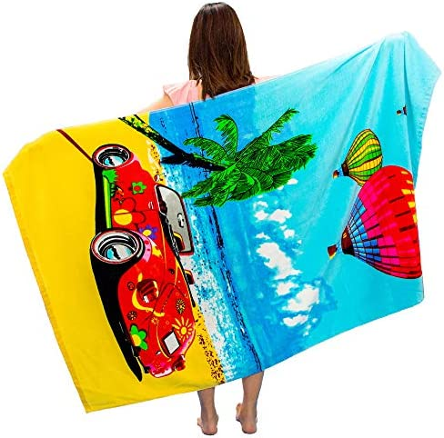 VNICGFOMGT Beach Towel Oversized Thick Cotton Pool Towels for Women Adults Swim Large Soft Absorbent product image