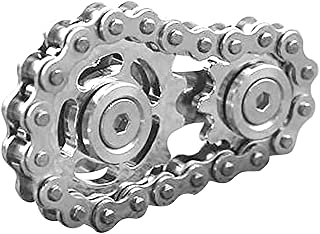 ZANLION EDC Sprocket Chain Decompression Fingertip Gyro Gear Top,Fingertip Gyro Sprocket Sprocket Flywheel Fingertip Toy 1...