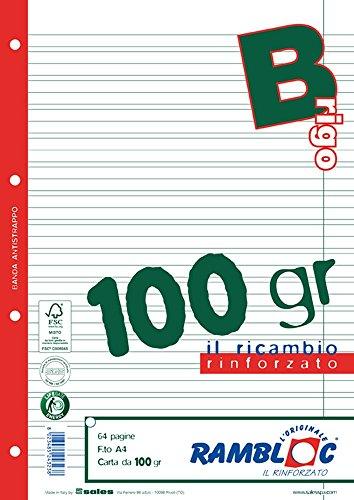 Rambloc reserveonderdeel A4 versterkt maat 100 Rigo B wit 32Ff