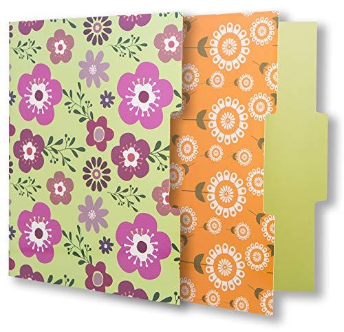 12 Cute File Folders -Floral File Folders & Colored File Folders in Vibrant Colors -Decorative File Folders -Pretty File Folders- 300 gsm Thick, Letter Size File Folders - 9.5 x 11.5 inch (Pack of 12) Photo #6