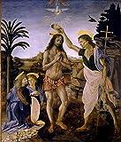 WMYZSHDWZ Pintura por Números Bautismo de Jesús Religión para Adultos y niños Pintar DIY al óleo de ...