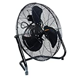 Remington 20 Inch Heavy Duty Floor Fan - Direct Drive, All-Metal Construction, 3 Speed Settings, Pivoting Fan Head (20REM-F)