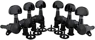 Guyker 6Pcs Guitar Locking Tuners (3L + 3R Handed) - 1:19 Lock String Sealed Tuning Key Pegs Machine Heads Set Replacement for ST TL SG LP Style Electric, Folk or Acoustic Guitars (Black)
