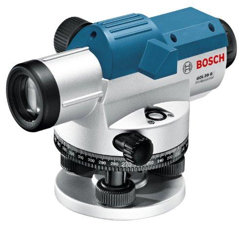 Bosch Professional 061599404P GOL 20 G Professional Optisches Nivelliergerät im Transportkoffer mit Stativ BT 160, Messlatte GR 500 und Zubehör
