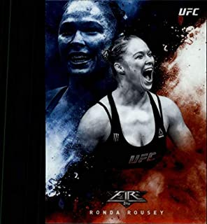 2017 Topps Chrome Fire UFC #UF-RRO Ronda Rousey Official MMA Trading Card (Scan streaks are NOT on the card itself)