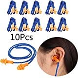 Yalulu 10 Pairs Soft Silicone Ear Plugs Ears Protector Reusable Hearing Protection Noise Reduction Earplugs Earmuff