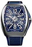 Franck Muller Vanguard Mens Automatic Date Blue Face Blue Rubber Strap Watch V 45 SC DT Yachting AC.BL