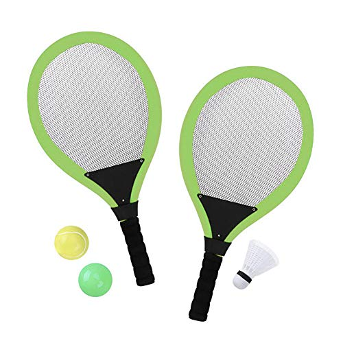 Delidraw Regalo Perfetto per Bambini Racchette da Tennis Set con Shuttlecock Plus 2 Balls Child Badminton Sports Game