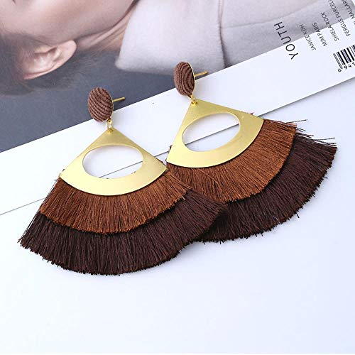 UOUAY dames sieraden oorbellen geschulpte oorbellen cadeautjes voor verjaardag Valentines verjaardag vrouw meisje moeder koffie kleur
