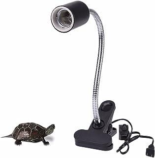 爬虫類 ライト 照明 クリップスタンド カメ 両生類用照明器具 ライト ホルダー セラミックシェード 高温耐性を クリップライトスイッチ付き 水族館用  RESPECTING 電球含まれない