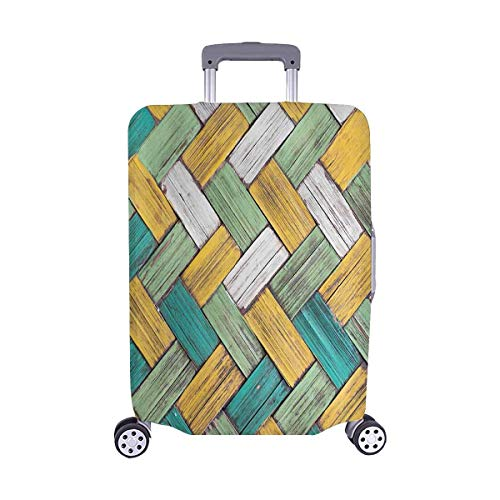 Maletas de Viaje de Madera de bambú con Textura de Mimbre de la elección de los viajeros con Ruedas giratorias Maleta de Equipaje de 24 Pulgadas