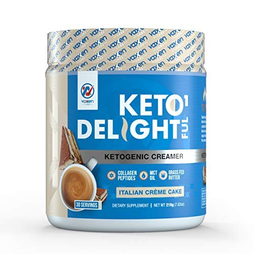 Ketogenic Creamer - Coffee and Tea - MCT Oil - Grass-Fed Butter - Coconut Oil - Collagen Peptides (Italian Creme Cake)