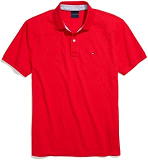 Tommy Hilfiger Men's Adaptive Polo Shirt with Magnetic Buttons Custom Fit
