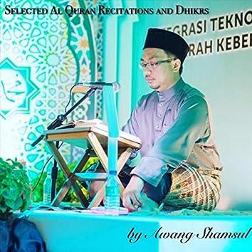 Selected Al Quran Recitation and Dhikrs