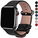 Fullmosa Compatible Apple Watch Strap Series SE 6 5 4 3 2 1 42mm 44mm 38mm 40mm Calf Leather iWatch...