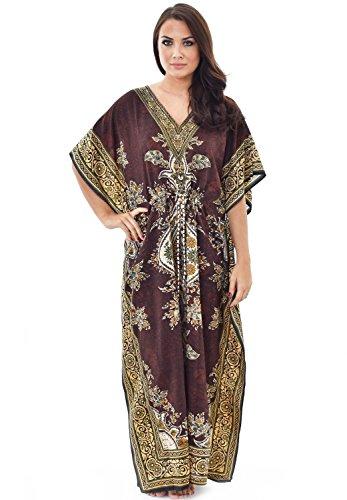 Nightingale-Collection-Damen-Kleid Gr. One size, braun
