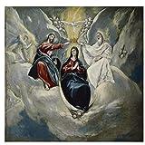 Lomoko Krönung der Jungfrau von EL Greco Kunstdruck Poster