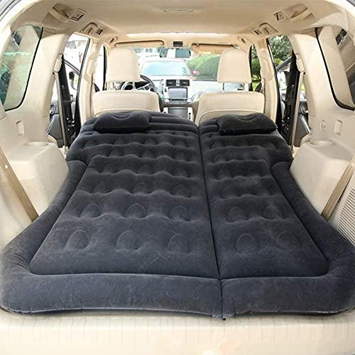 angelHJQ Cama de viaje de coche, colchón inflable de viaje para coche, colchón de asiento trasero de coche, cojín multifuncional para acampar al aire libre