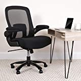 Flash Furniture Big & Tall Office Chair | Black Mesh Executive Swivel Office Chair with Lumbar and Back Support and Wheels