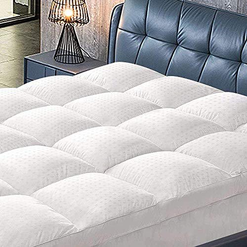 ABAKAN Twin Mattress Topper, Extra Thick Soft Mattress Pad Cover, Cooling Pillowtop with 8-21Inch Deep Pocket Down Alternative Fill Bed Topper