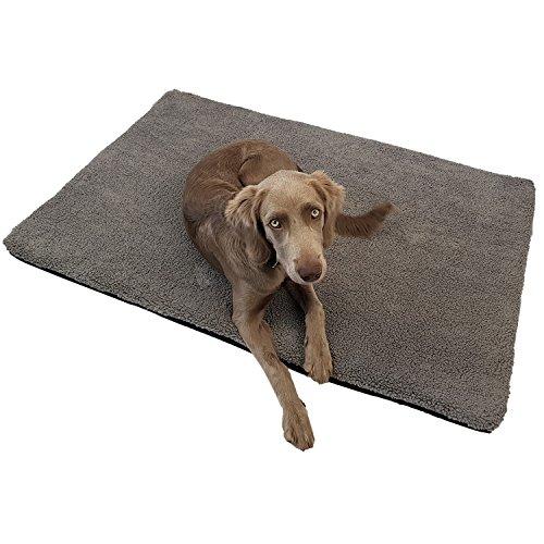 Power-Preise24 Orthopädische Heimtiermatte Laika - optimaler Liegekomfort für Ihr Haustier - viscoelastische Hundematratze mit abnehmbaren Bezug und Antirutschbeschichtung, Größe:XL (120 x 85 x 5 cm)
