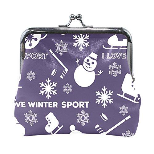 TIZORAX - Monedero para deportes de invierno, diseño de muñeco de nieve