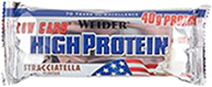 Barrette proteiche - weider low carb high proteine bar, stracciatella, confezione da 20 x 100gr 65298
