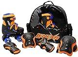Lenexa Go Gro Adjustable Quad Roller Skate Bundle – Kids Rollerskates with...