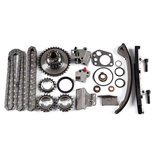 OCPTY Timing Chain Kit for 1991-1999 for NISSAN 240SX 2.4L L4 DOHC 16 Valve KA24DE Engine