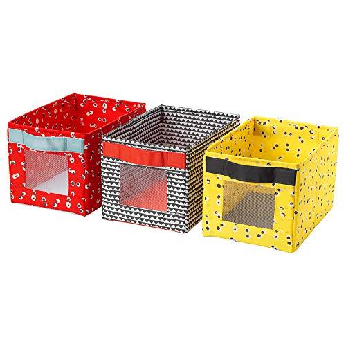 IKEA/イケア ANGELAGEN:ボックス18x27x17 cm 3個セット マルチカラー (304.179.50)