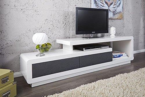 Price factory Waschtisch TV Wohnwand Marvin weiß/grau lackiert. Waschtisch Design und Ultra Trend