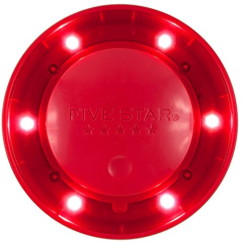 """Five Star Locker Accessories, Locker Light, Push Button Light, Colored LED, Magnetic, 4"""" x 4"""", Red (73567)"""