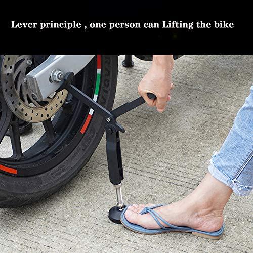 Caballete Elevador Moto,elevador Portatil Regulable Rueda Trasera,Motocicleta Soporte Caballete Elevador Para Brazo Oscilante Doble,para Viaje En Moto