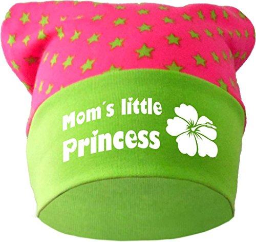 KLEINER FRATZ Baby Kopftuch Mütze (Farbe pink-Lime) (Gr. 3 (98-122) Little Princess/Fat