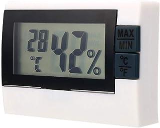 xdrfxrghjku Inicio & Vivir Mini Negro LCD Digital Termómetro Interior Neveracongelador Blanco