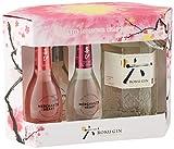 Roku Japanese Craft Gin Gift Pack with Merchant's Heart Spirit Enhancers, 70 cl
