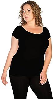 Skinny Tees Women's Size Cap Sleeve Tee Plus