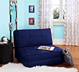 Your Zone - Flip Chair Convertible Sleeper Dorm Bed Couch Lounger Sofa Multi Color New (Blue) (Blue)