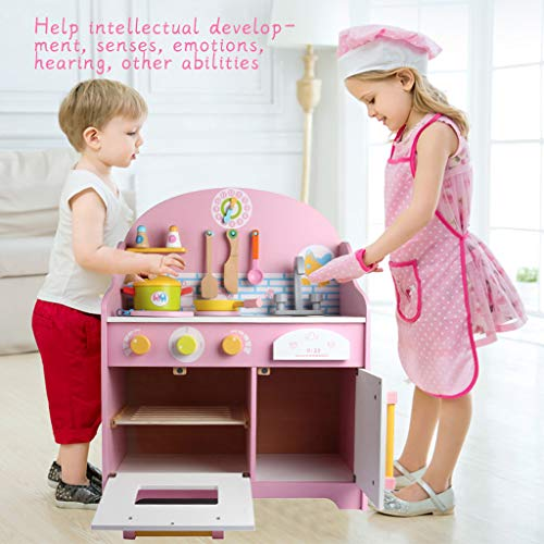 Pretend Play Set [Shipping by USA] Let's Play House! Best Chef's Toy Kitchen Playset Gas Stove, Sink, Pot Simulation Cooking Tools for Kids Toddlers Skill- and Confidence-Building