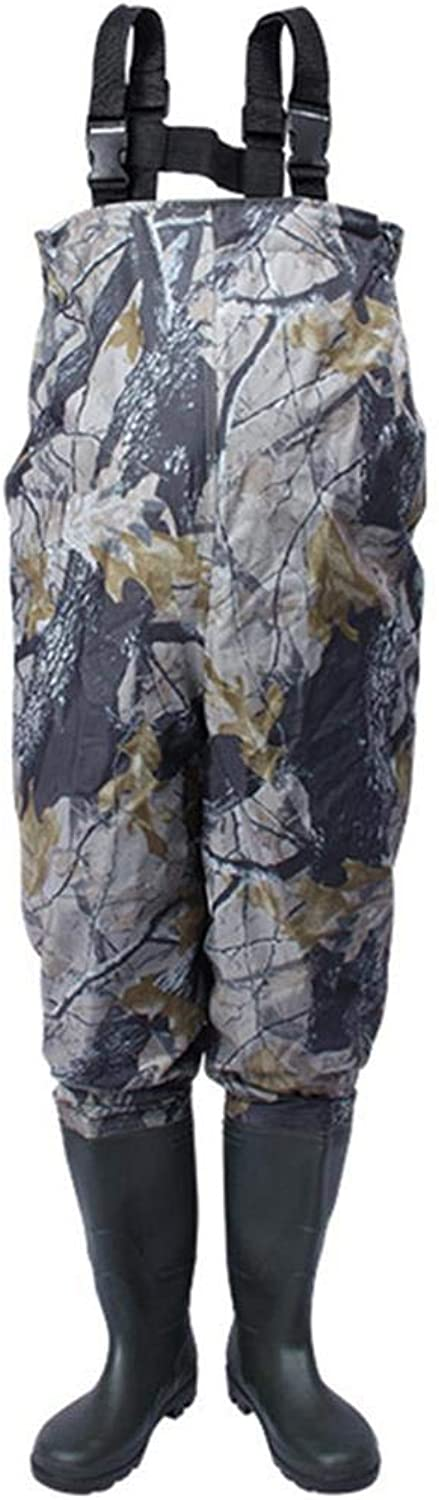 OMAS Fishing Chest Wader Camouflage Pants with Boots Waterproof Breathable Loose Waders