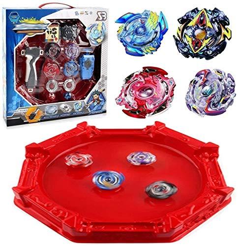 Heatigo Storm Battle Set Big Arena Im Lieferumfang von 4D Launcher Grip Set Toys enthalten, Ideal für Kindertag, Ostern, Weihnachten, Geburtstagsgeschenk