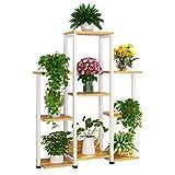 Puesto De Flores Estantería De Flor Bambú Estantería Decorativa for Macetas...