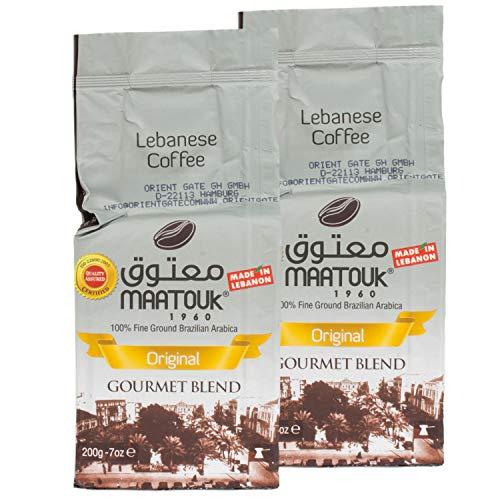 Maatouk - Arabischer Mokka Kaffee gemahlen im 2er Set á 200 g Packung
