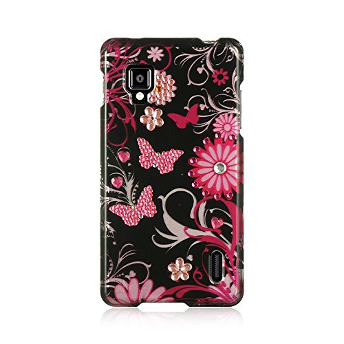 LG Optimus G LS970 Sprint Case, Dreamwireless Rubberized Hard Snap-in Case Cover for LG Optimus G LS970 Sprint, Black/Pink