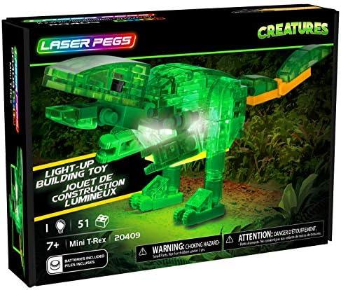 Laser Pegs Mini T Rex Light Up Construction Set product image