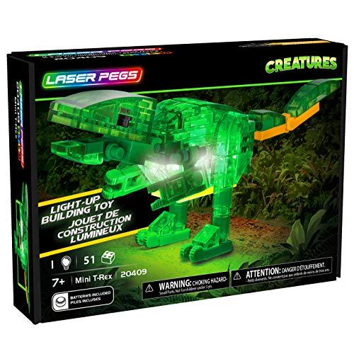 Laser Pegs Mini T-Rex Light-Up Construction Set