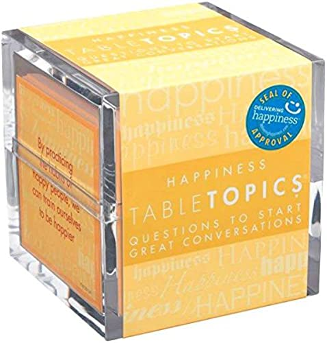 calidad auténtica TABLETOPICS TABLETOPICS TABLETOPICS Happiness  Questions to Start Great Conversations by TableTopics  grandes ofertas