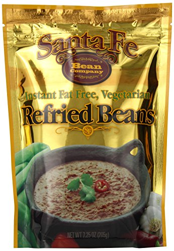 Santa Fe Bean Company Instant Fat Free Vegetarian Refried Beans 7.25-Ounce (Pack of 8) Instant Vegetarian Refried Beans; All Natural; High in Fiber; Fat Free; Gluten-Free
