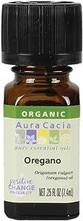 Aura Cacia Aromatherapy Oregano Essential Oil Organic 0.25 Oz. Bottle